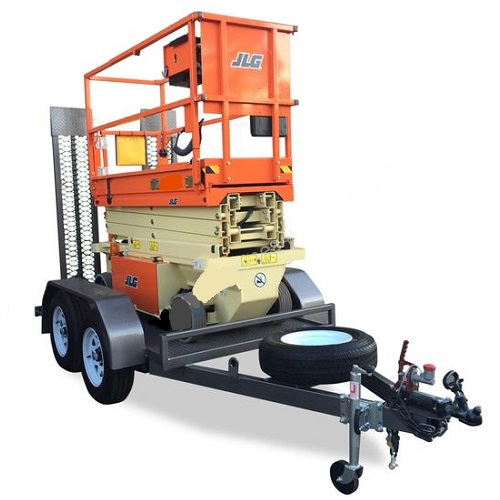 19 ft Scissor Lift on Trailer