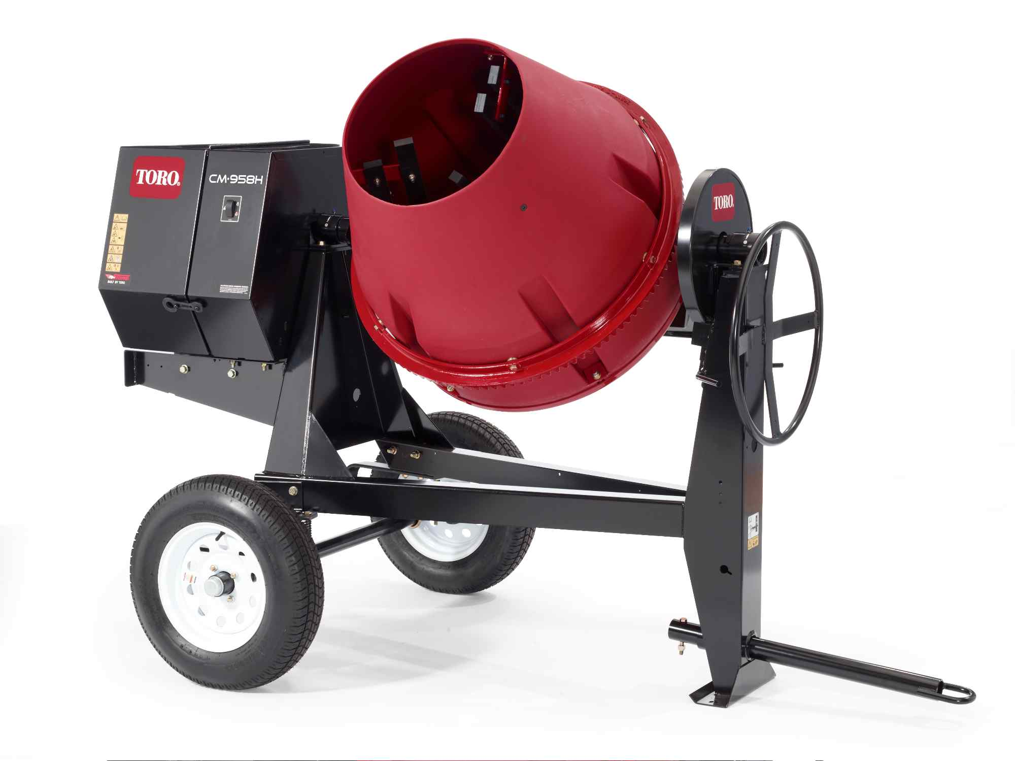 Towable Cement Mixer, 9 CuFt