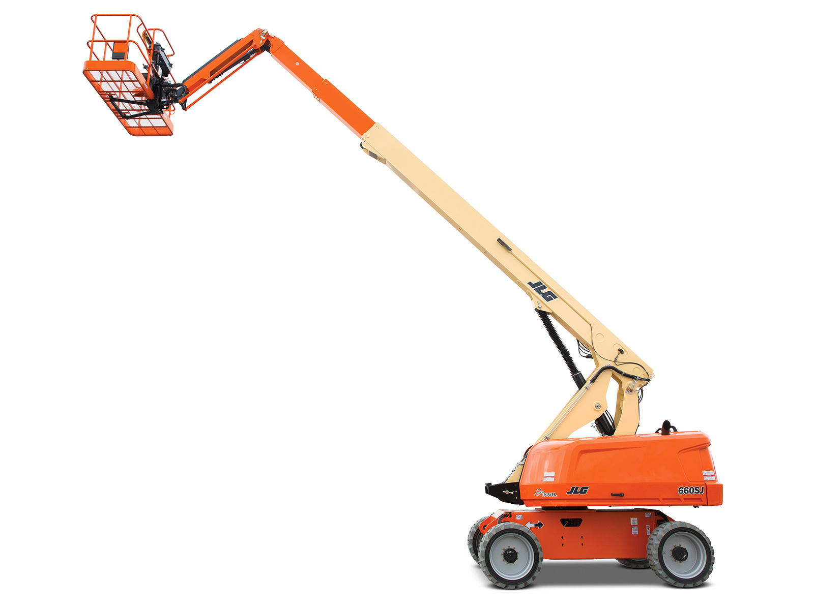 60' Telescopic Straight Boom Lift w/Jib